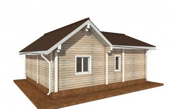 Фото #3: деревянный дом ПДБ-69 из клееного бруса купить за 8728012 (цена «Под ключ»)