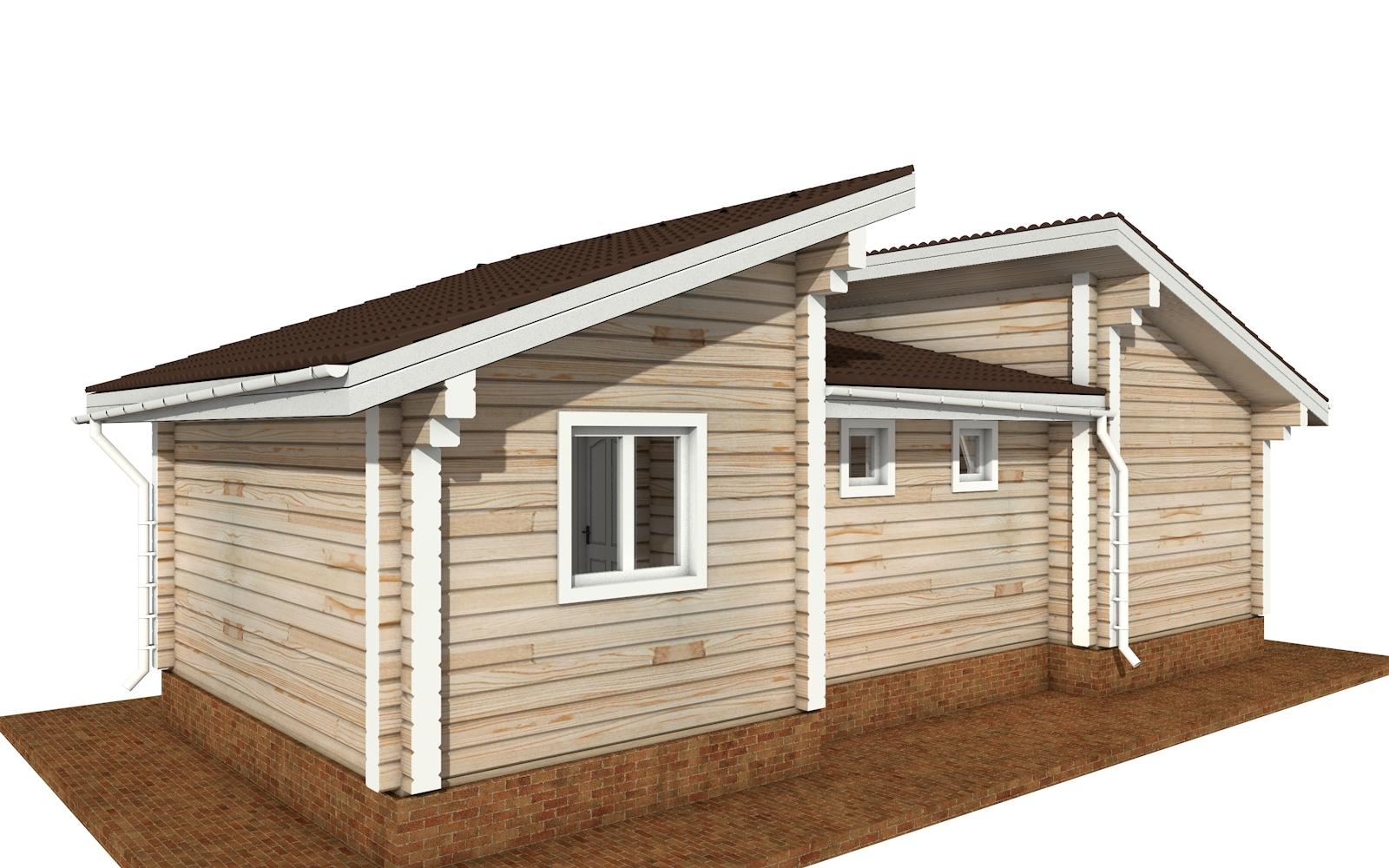 Фото #3: деревянный дом ПДБ-70 из клееного бруса купить за 5880759 (цена «Под ключ»)