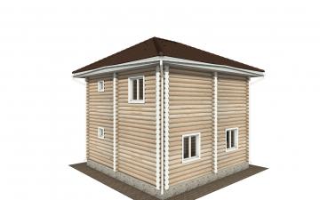 Фото #3: Красивый деревянный дом РС-149 из бревна