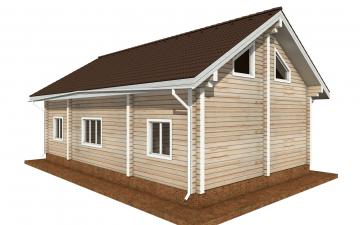 Фото #3: деревянный дом ПДБ-71 из клееного бруса купить за 10054092 (цена «Под ключ»)
