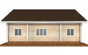 Фото #9: деревянный дом ПДБ-71 из клееного бруса купить за 10054092 (цена «Под ключ»)