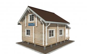 Фото #3: Красивый деревянный дом РС-150 из бревна