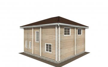 Фото #4: Красивый деревянный дом РС-147 из бревна