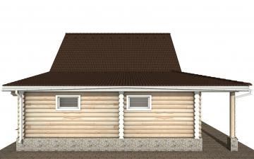 Фото #9: Красивый деревянный дом РС-151 из бревна