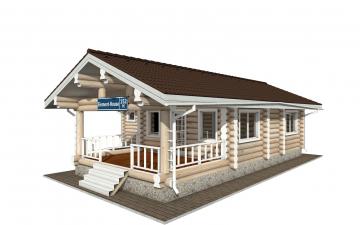 Фото #4: Красивый деревянный дом РС-152 из бревна
