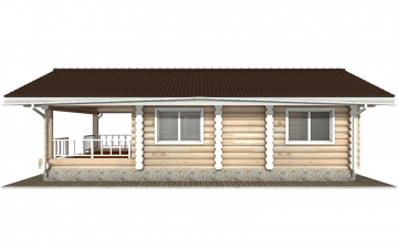 Фото #10: Красивый деревянный дом РС-152 из бревна