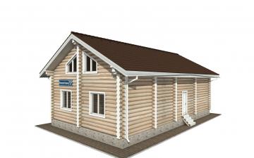 Фото #4: Красивый деревянный дом РС-153 из бревна