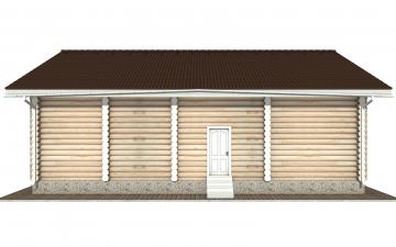 Фото #10: Красивый деревянный дом РС-153 из бревна