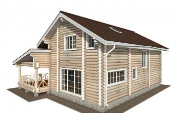Фото #4: Красивый деревянный дом РС-154 из бревна