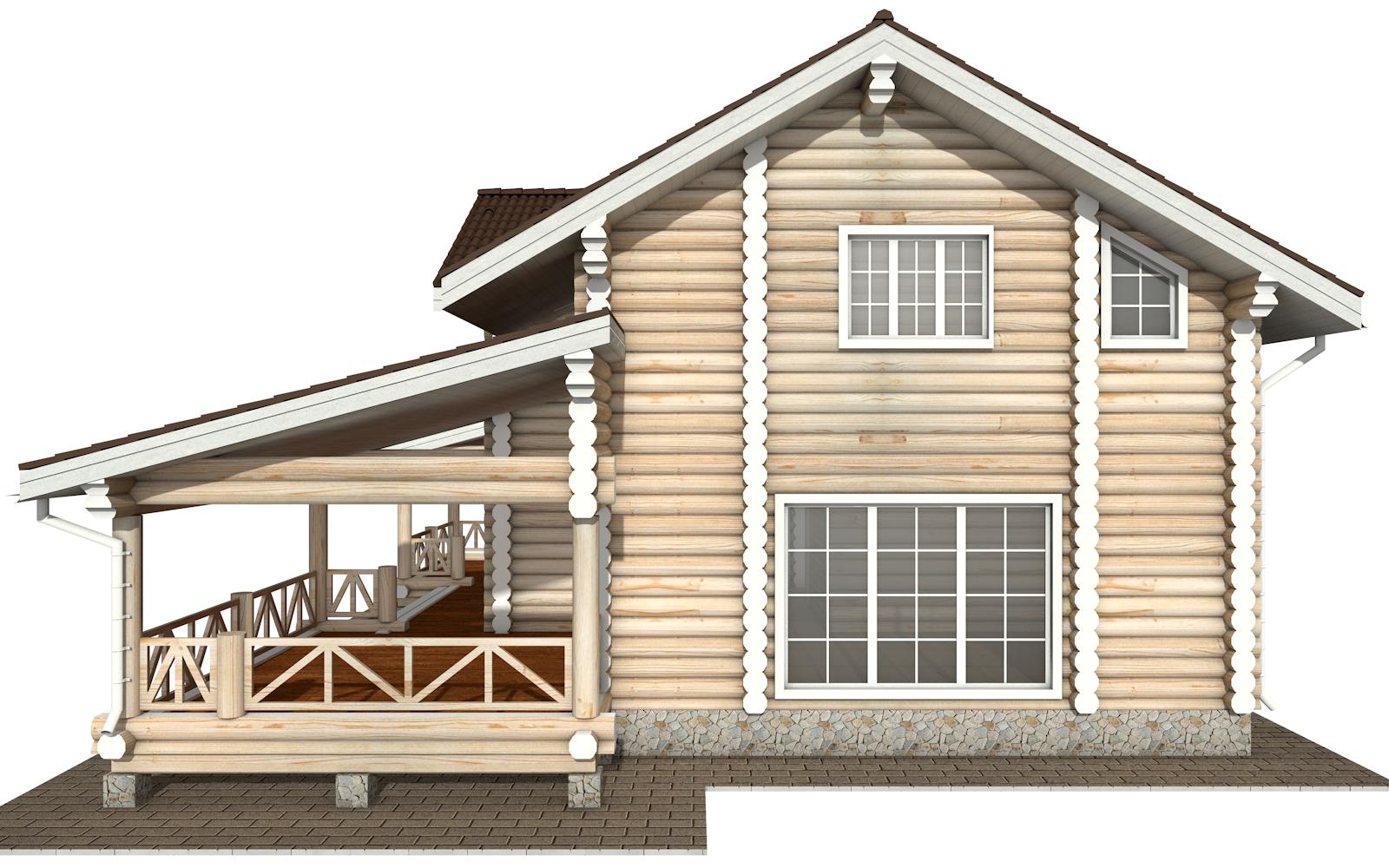 Фото #10: Красивый деревянный дом РС-154 из бревна
