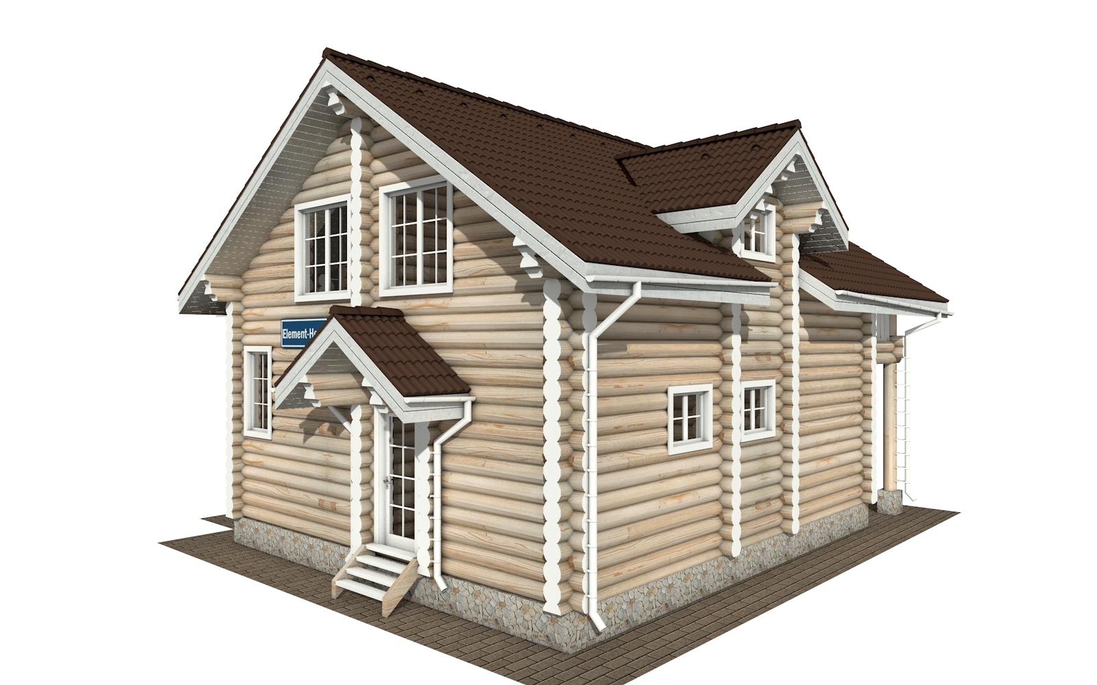 Фото #4: Красивый деревянный дом РС-155 из бревна