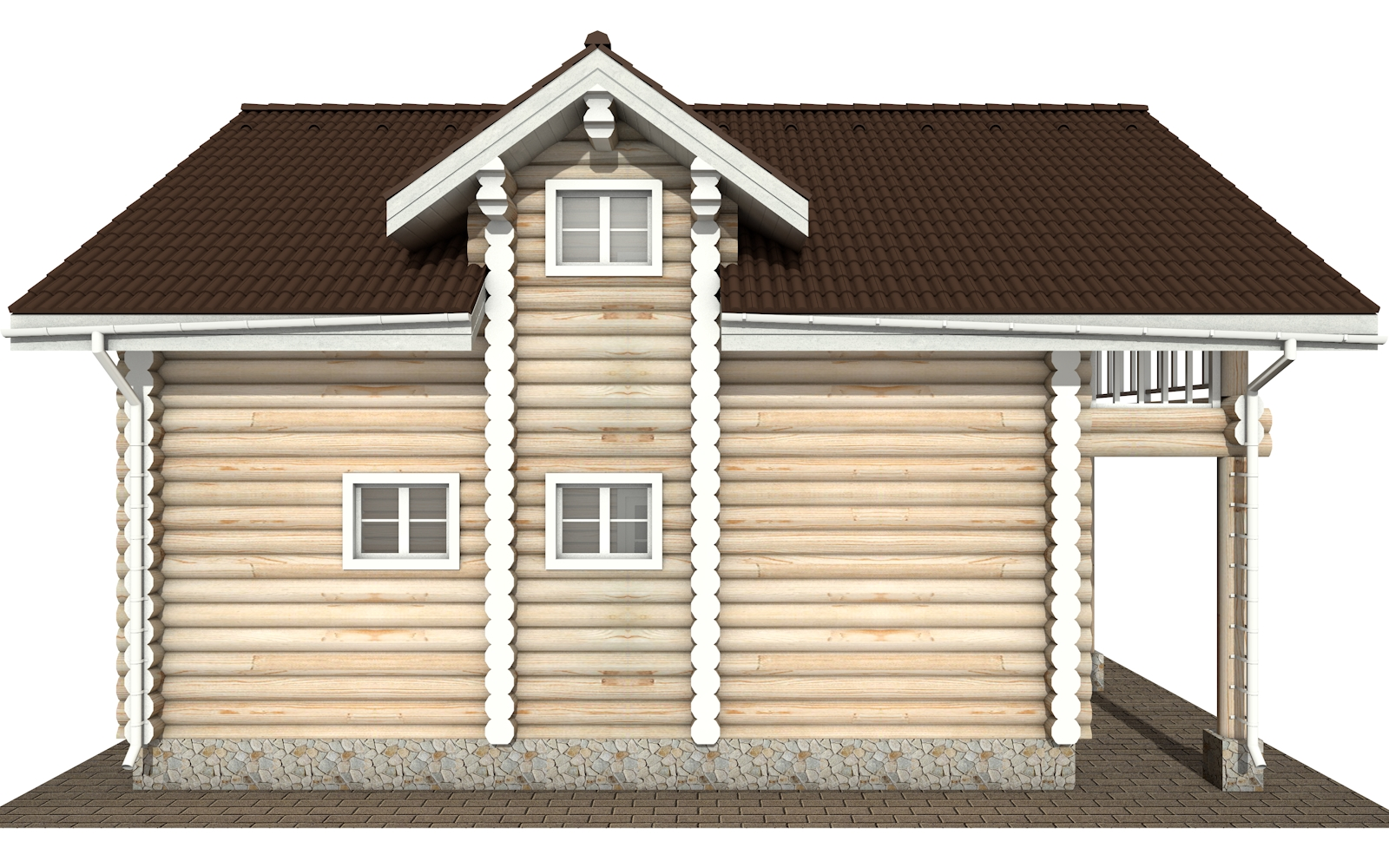 Фото #10: Красивый деревянный дом РС-155 из бревна