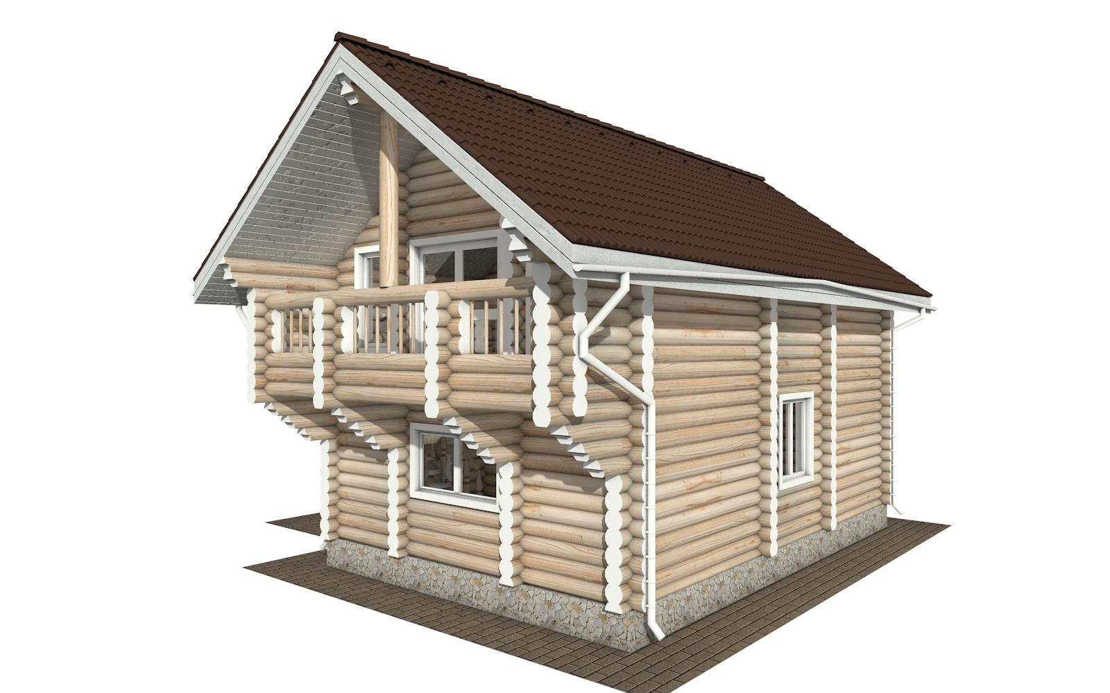 Фото #4: Красивый деревянный дом РС-156 из бревна