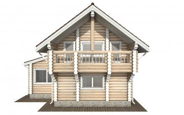Фото #10: Красивый деревянный дом РС-156 из бревна