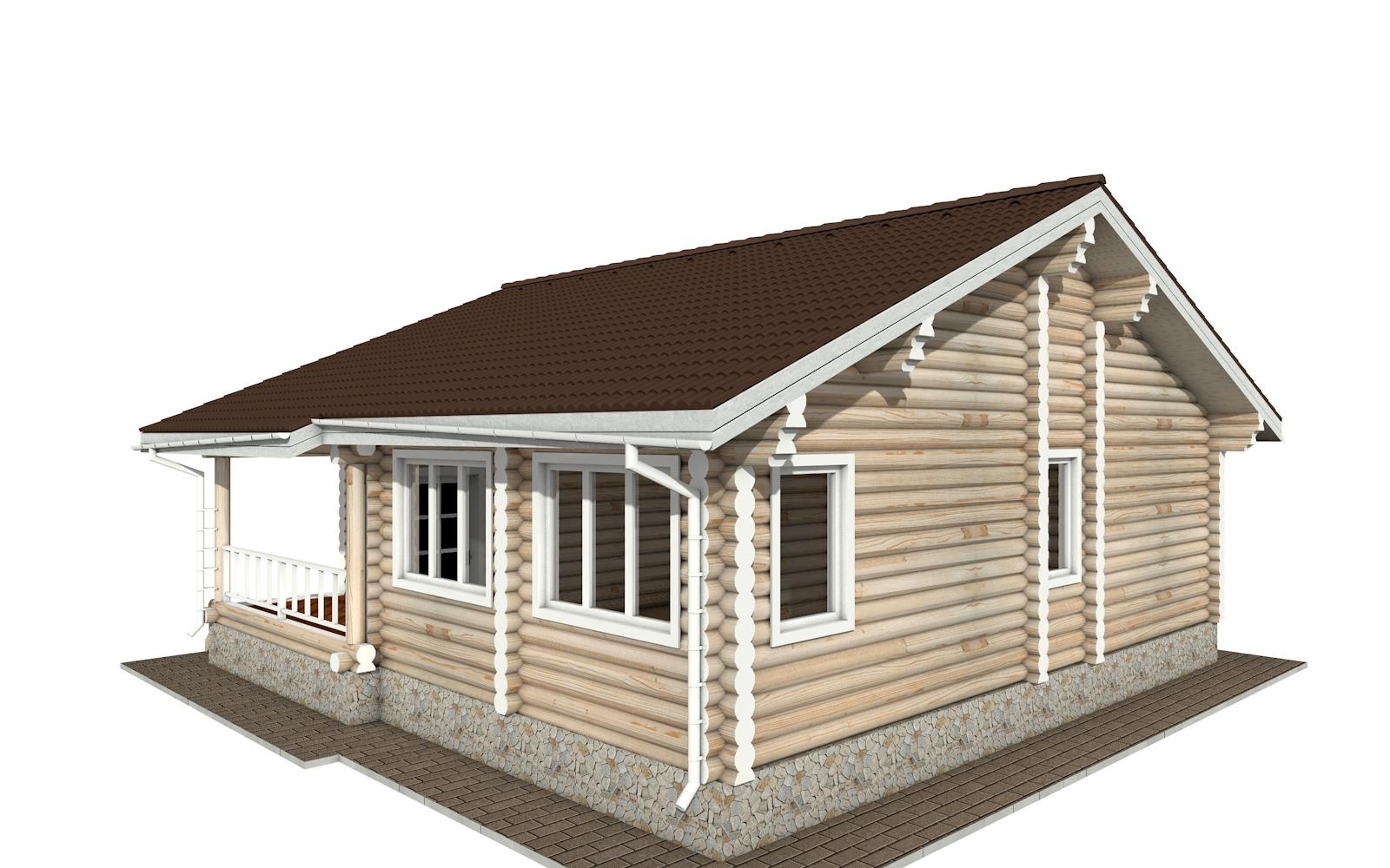 Фото #4: Красивый деревянный дом РС-157 из бревна