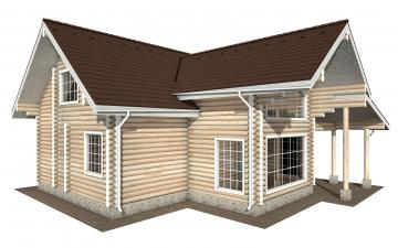 Фото #4: Красивый деревянный дом РС-158 из бревна