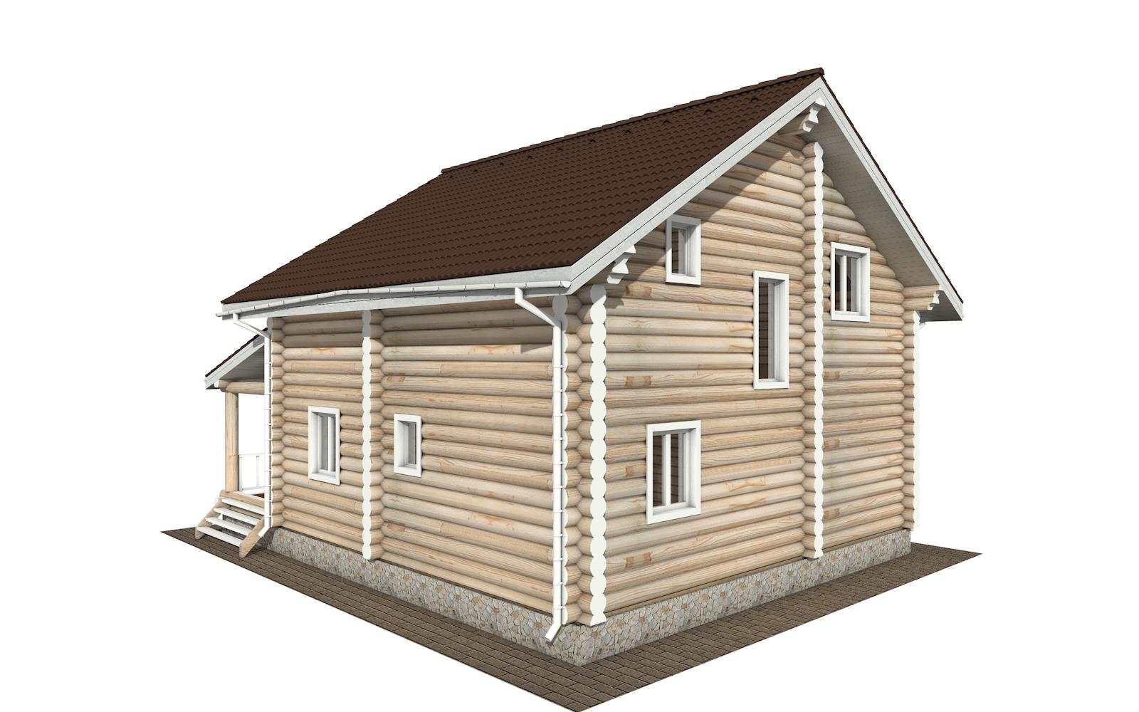 Фото #4: Красивый деревянный дом РС-159 из бревна
