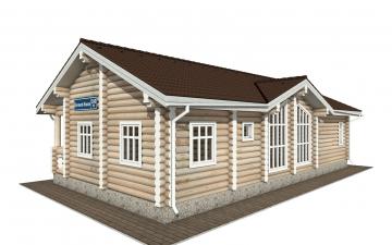 Фото #4: Красивый деревянный дом РС-160 из бревна
