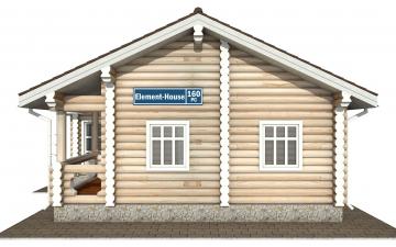 Фото #10: Красивый деревянный дом РС-160 из бревна