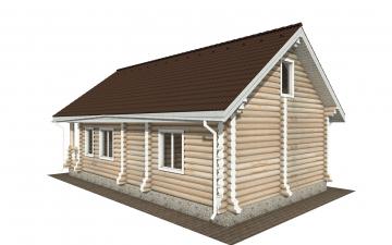Фото #4: Красивый деревянный дом РС-161 из бревна
