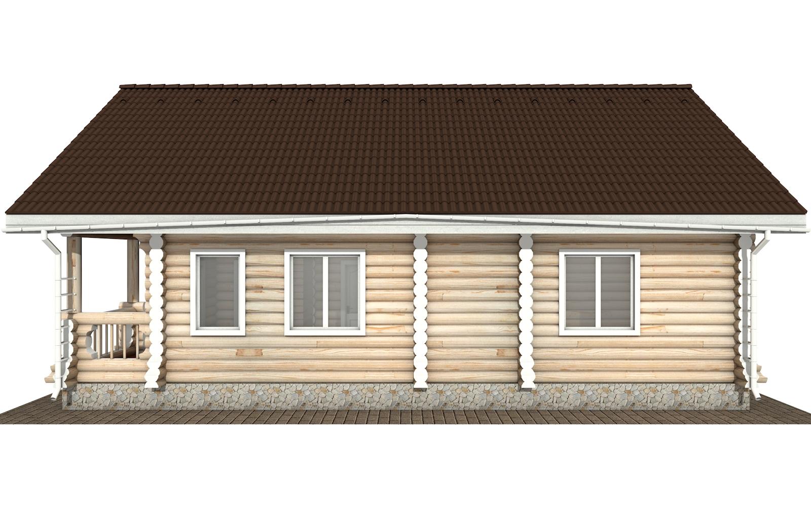 Фото #10: Красивый деревянный дом РС-161 из бревна