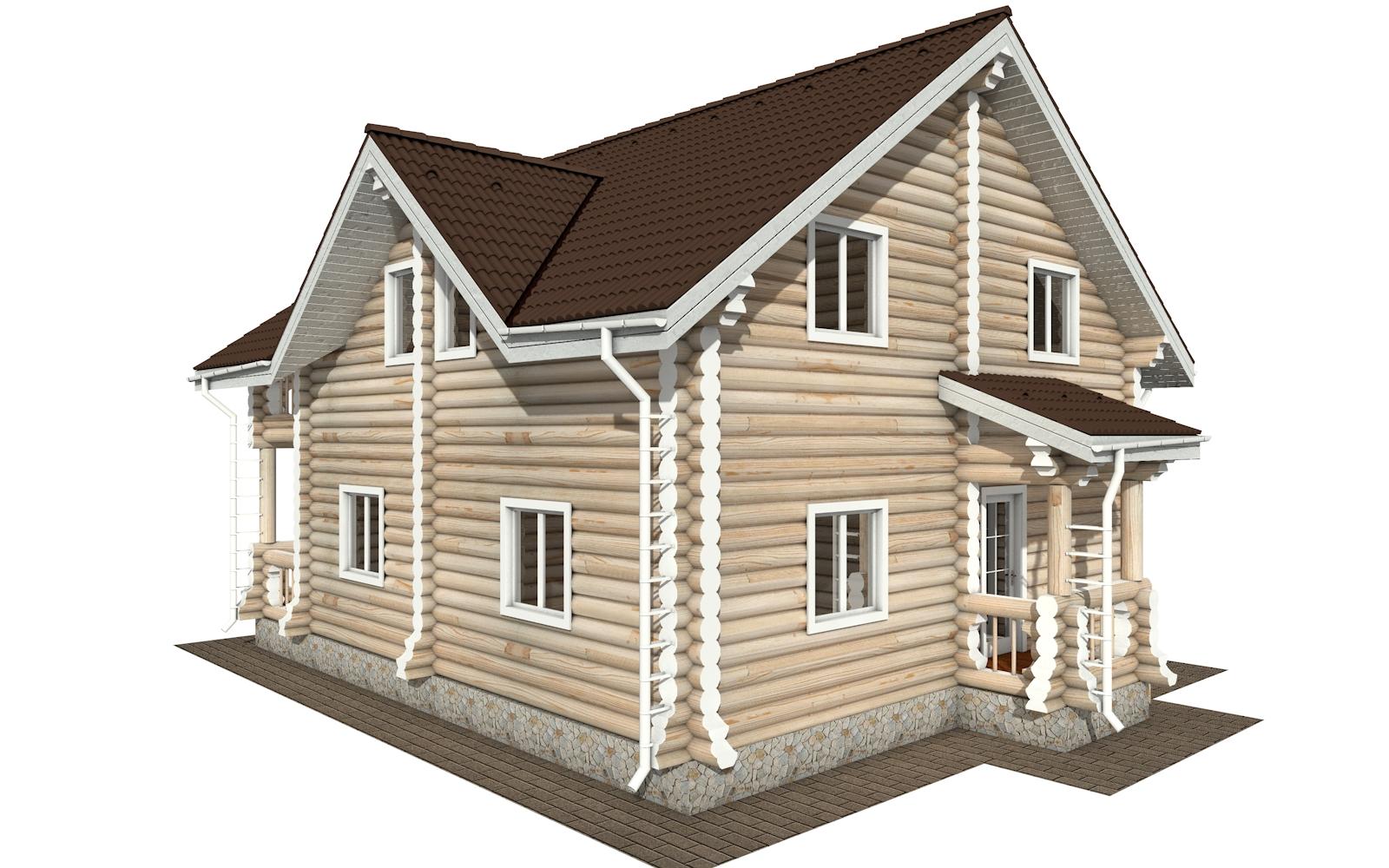 Фото #4: Красивый деревянный дом РС-162 из бревна
