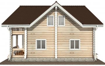 Фото #10: Красивый деревянный дом РС-162 из бревна