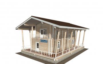 Фото #4: Красивый деревянный дом РС-163 из бревна