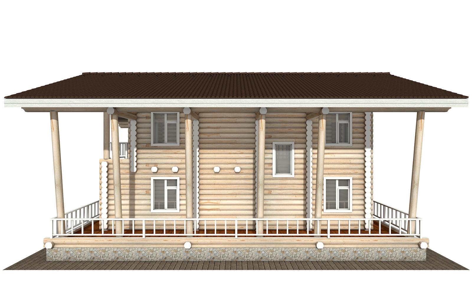 Фото #10: Красивый деревянный дом РС-163 из бревна