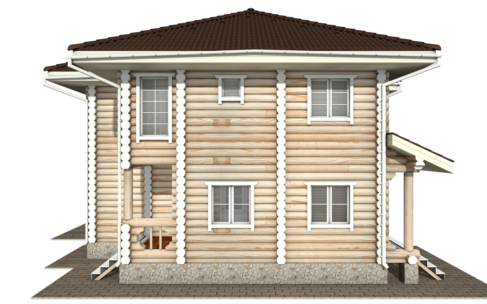 Фото #10: Красивый деревянный дом РС-164 из бревна