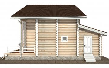 Фото #10: Красивый деревянный дом РС-146 из бревна