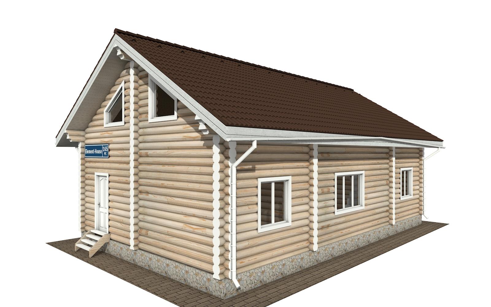 Фото #4: Красивый деревянный дом РС-166 из бревна