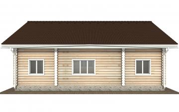 Фото #10: Красивый деревянный дом РС-165 из бревна