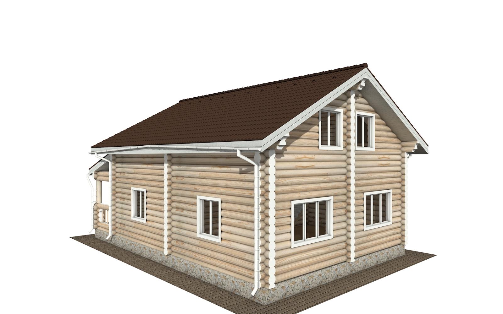 Фото #4: Красивый деревянный дом РС-167 из бревна