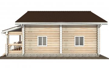 Фото #10: Красивый деревянный дом РС-167 из бревна
