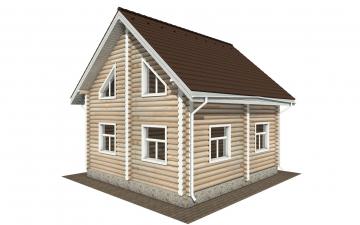 Фото #4: Красивый деревянный дом РС-168 из бревна