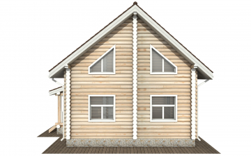 Фото #10: Красивый деревянный дом РС-168 из бревна