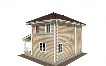 Фото #4: Красивый деревянный дом РС-169 из бревна