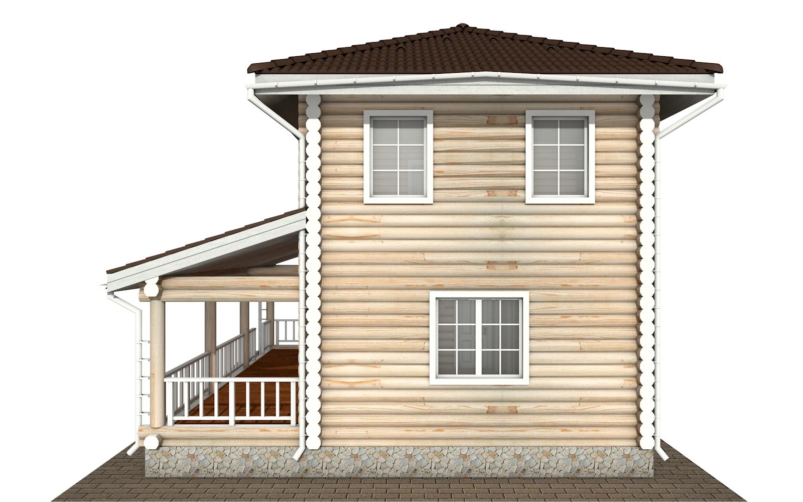 Фото #10: Красивый деревянный дом РС-169 из бревна