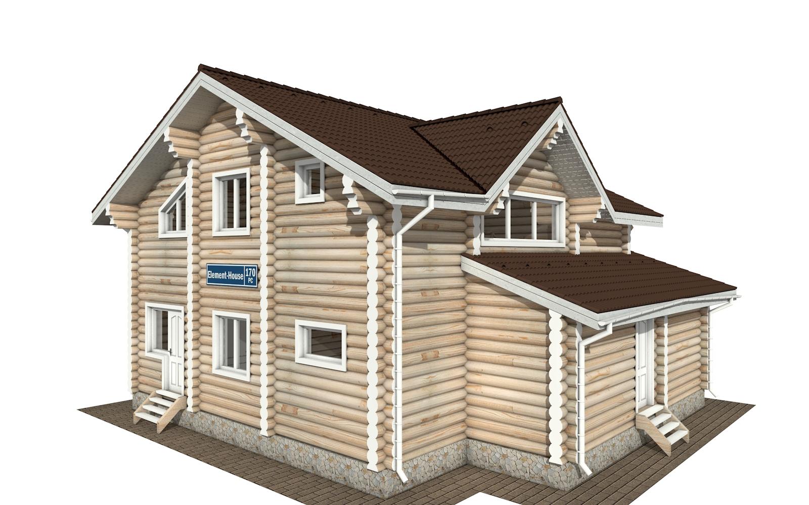 Фото #4: Красивый деревянный дом РС-170 из бревна