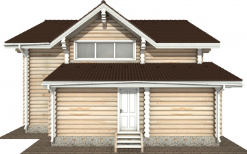 Фото #10: Красивый деревянный дом РС-170 из бревна