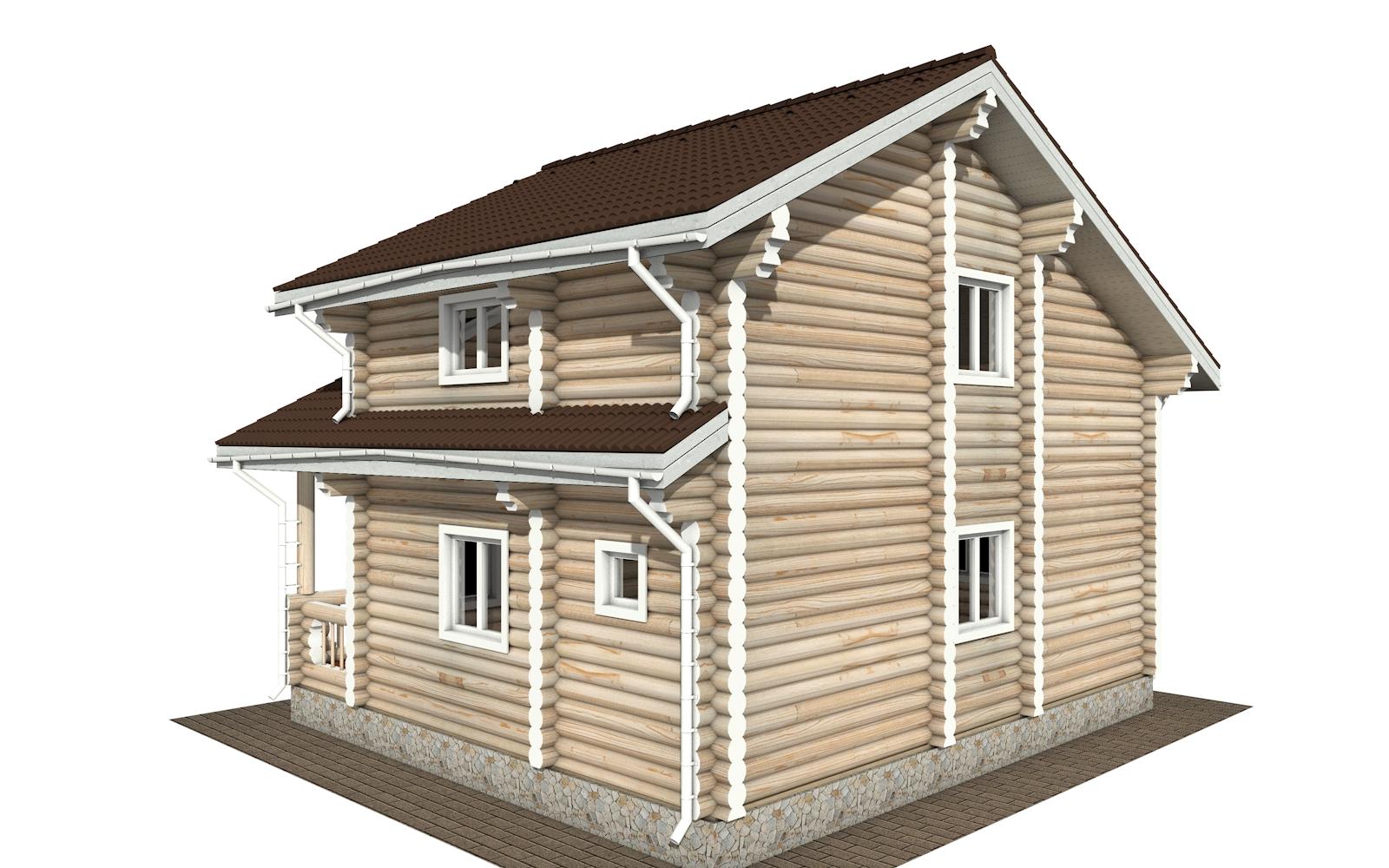 Фото #4: Красивый деревянный дом РС-176 из бревна