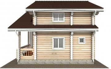 Фото #10: Красивый деревянный дом РС-176 из бревна