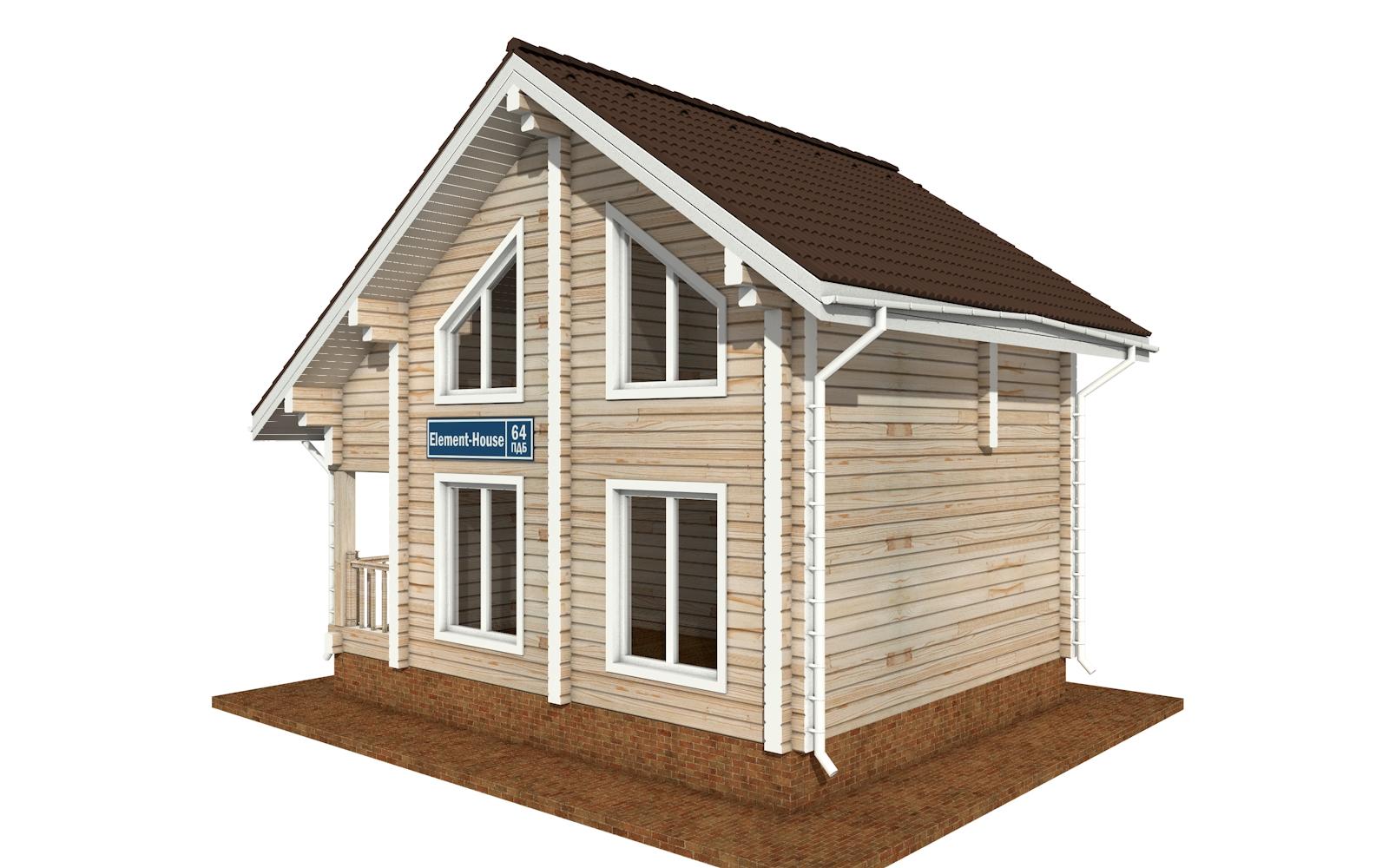 Фото #4: деревянный дом ПДБ-64 из клееного бруса купить за 7080194 (цена «Под ключ»)