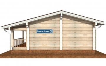Фото #10: деревянный дом ПДБ-65 из клееного бруса купить за 8011498 (цена «Под ключ»)