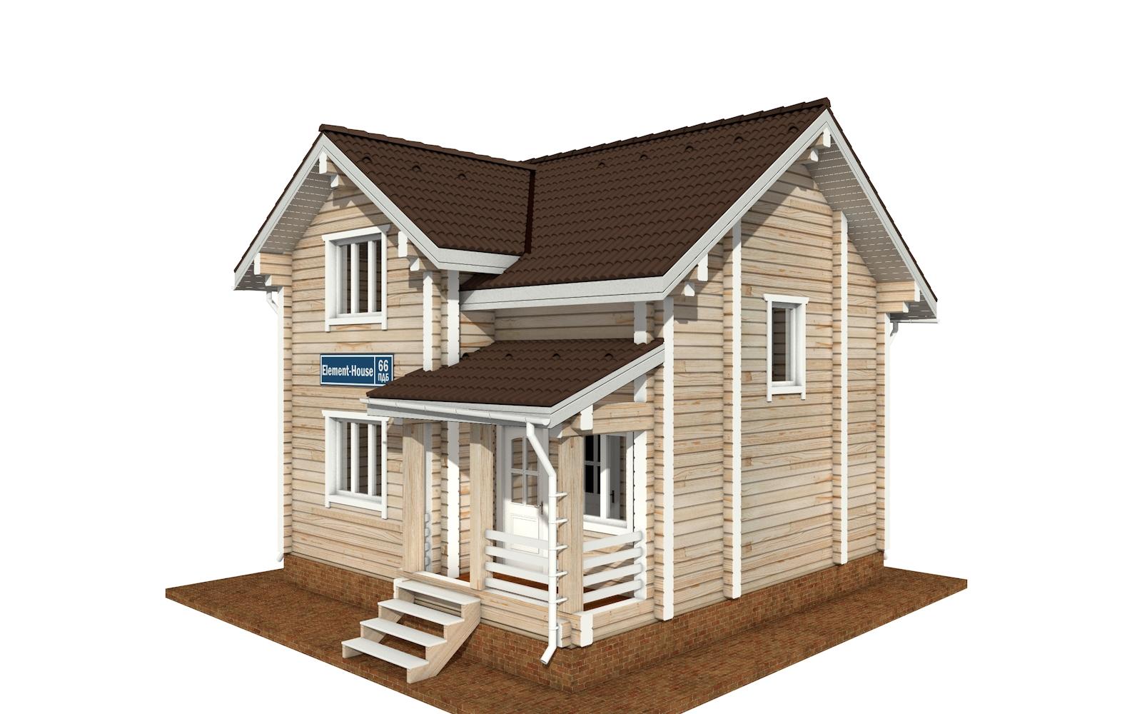 Фото #4: деревянный дом ПДБ-66 из клееного бруса купить за 8077921 (цена «Под ключ»)