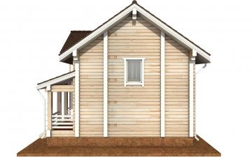 Фото #8: деревянный дом ПДБ-66 из клееного бруса купить за 8077921 (цена «Под ключ»)