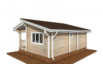 Фото #4: деревянный дом ПДБ-67 из клееного бруса купить за 4301693 (цена «Под ключ»)