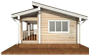 Фото #10: деревянный дом ПДБ-67 из клееного бруса купить за 4301693 (цена «Под ключ»)