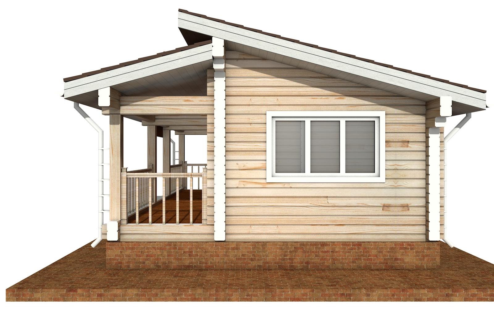 Фото #9: деревянный дом ПДБ-67 из клееного бруса купить за 4301693 (цена «Под ключ»)